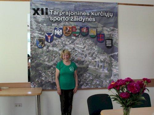 Sporto žaidynių organizatorė, Raseinių kurčiųjų pirminės organizacijos pirmininkė Genovaitė Eidukevičienė