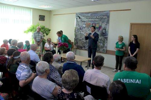 Žodį taria LKD viceprezidentas Mykolas Balaišis