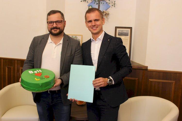 LKD prezidentas Kęstutis Vaišnora ir Bolt tarptautinės pavežėjimo bendrovės Lietuvoje vadovas Andrius Pacevičius pasirašė bendradarbiavimo sutartį!