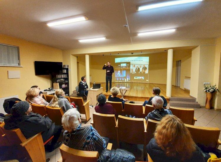 Pasaulio kurčiųjų federacijos (WFD) GA bei kongreso aktualijos pristatytos Šiaulių kurčiųjų bendruomenei