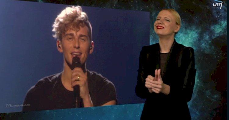 """""""Eurovizijos"""" dainų konkurso II-asis pusfinalis išverstas į gestų kalbą"""