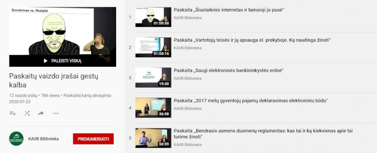 Skaitmeninio raštingumo paskaitos su vertimu į gestų kalbą